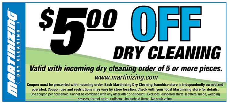 graphic about Printable Dry Cleaning Coupons named Martinizing Dry Cleansing Dry Cleaners within just Wichita, KS